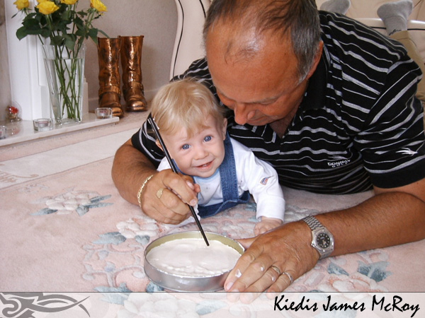 Kiedis with his grandfather, James